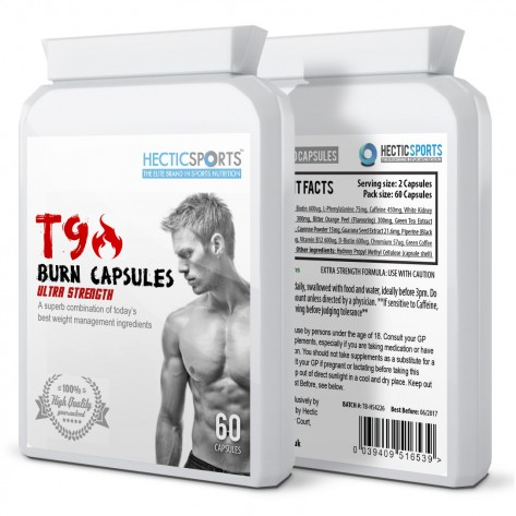 T9 Burn Capsules - Thermogenic Extreme Fat Burners (60 Capsules)